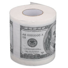 Toilet paper rolls paper in pattern for $ 100 White BF