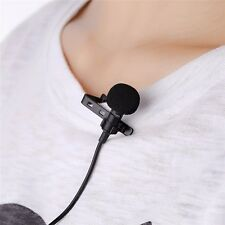Lavalier Lapel Clip-on Omnidirectional Microphone TRRS 3.5mm Jack Handsfree