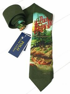 ⭐ Polo Ralph Lauren sportsman outdoors classic tie 100% wool hand made in Italy