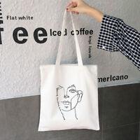 Casual Women Canvas Shopping Handle Bags Pure Color Messenger Handbag Tote Bags