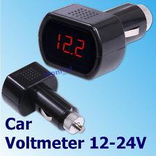 12v-24v Voltímetro Digital Led coche cigarrillo Socket Voltaje Probador de baterías automático