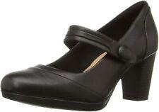 Clarks BNIB Ladies Mary Jane Shoes BRYNN MARE Black Leather UK 6 / 39.5