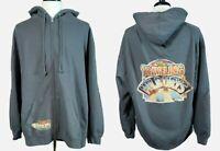 Gray THE TRAVELING WILBURYS Band Concert Full-Zip Hoodie Sweatshirt NWOT 2XL