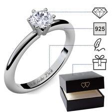 Verlobungsringe Silber 925 Zirkonia Stein Damenring Silberring Ring Antragsring
