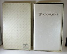 Hallmark Keepsake Wedding Photo Album White Embossed Flowers Vintage Love Gift