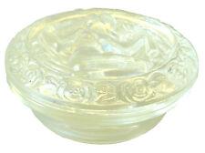 Dose, geformt, in Kristallglas. Aktmotiv Frau - AE 793