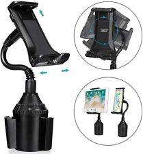 360° Swivel Cup Holder Phone Mount Universal Adjustable Gooseneck Cup Holder
