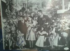 WIZARD OF OZ FOUR MUNCHKINS HANDSIGNED AUTOGRAPH