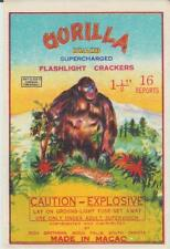 Vintage Gorilla Firecracker Pack Label