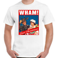 WHAM LAST CHRISTMAS T-SHIRT, Mens Xmas George Micheael Unisex Tee Top CD Album