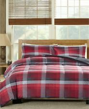 Woolrich Terrytown 3-Pc. Reversible Plaid Comforter Set - FULL / QUEEN - Red
