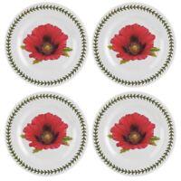 Botanic Garden Set Of 4 Salad/Dessert Plates (Poppy)