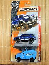 MATCHBOX 2 EMERGENCY RESPONSE VEHICLES (POLICE & SWAT TRUCK) 2010 & 2016