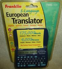Franklin Electronic 5-Language Translator Italian*Spanish*German*French TWE-106