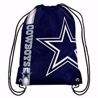 Dallas Cowboys Drawstring Bag NFL Football Licensed Gym Tote Backpack