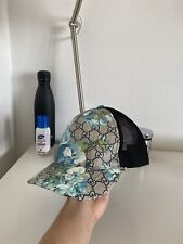 Gucci Blue Floral Blooms GG Monogram Limited Edition Rare Baseball Cap Hat L