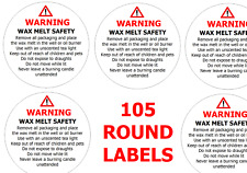 picture regarding Free Printable Candle Warning Labels identified as Candle Cleaning soap Manufacturing Labels for sale eBay