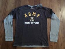 United States Military Army Strong Long Sleeve Highlight Layered T-Shirt