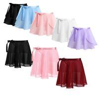 Girls Kids Gymnastics Ballet Dress Leotard Dance Wrap Tutu Skirt Skate Dancewear