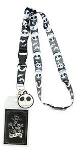 "Nightmare Before Christmas Jack ID Lanyard Badge Holder With 1.5"" Charm Pendant"