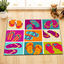 """15X23"""" Flip-Flops Summer Slippers Kitchen Doormat Floor Non-Slip Bath Rug Carpet"""