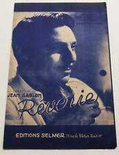 Partition vintage sheet music JEAN SABLON : Rêverie * 40's