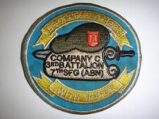 US Army Company C 3rd Battalion 7th SPECIAL FORCES GROUP Vietnam War Patch