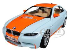 BMW M3 COUPE GULF LIGHT BLUE W/ ORANGE STRIPE 1/24 DIECAST CAR BY MOTORMAX 79644