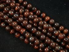 Gemstone Beads Red Tiger Eye 8mm Round Beads 35cm Strand Jewellery FREE POSTAGE