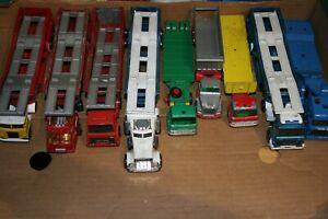 9x Matchbox SuperKings -DAF Ford Peterbilt Scammell- Tractor + Transporter Lot