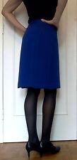 Jupe crayon tailleur bleu roi vintage en laine 36/38