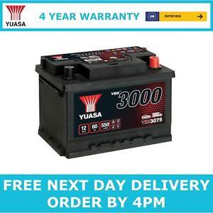 Yuasa YBX3075 Car Battery 12V Sealed Lead Acid 4 Yr Warranty Type 075