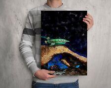 Futurama Planet Express  watercolour painting, original artwork print