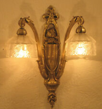 WONDERFUL FRENCH ART NOUVEAU SCONCE 1910/1920 - HEAVY BRONZE