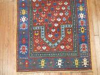 Antique Caucasian Kazak Prayer Rug Size 2'9''x4'11''