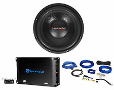 "American Bass XO 1244 12"" 600w Car Subwoofer 4-ohm Sub+Mono Amplifier+Amp Kit"