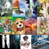 Animal Flower DIY 5D Diamond Painting Embroidery Cross Crafts Stitch Home Decor