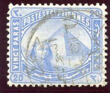 Egypt 1879 QV 20pa pale blue (wmk inv) very fine used. SG 46w.