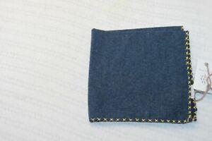 Eleventy Platinum men's Navy Pocket Square MSRP $95