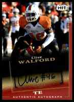 2015 HIT RED JETS CLIVE WALFORD RC AUTO MIAMI HURRICANES #A46