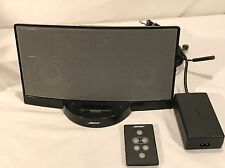 Bose SoundDock Portable Digital Music System iPod Stereo w/ Power Cords & Remote