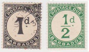 (K170-206) 1950 Barbados 1/2d & 1d postage dues (GE)