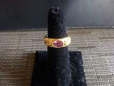 18K DIAMOND CUT ROSE//WHITE//YELLOW Trinity Intertwining Band Ring 2.5 g Size 5-6