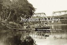 Boston & Maine RR  Boat and RR bridge Hooksett, NH  c.1890