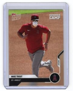 2020 TOPPS NOW MIKE TROUT SUMMER CAMP W/ MASK SP - 3628 MADE