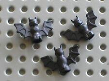 3 x Chauve souris LEGO Minifig black bat ref 30103 / Set 5986 3739 4714 4709 ...