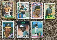 Dwayne Murphy Baseball Cards. Oakland Athletics
