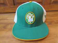 "-New Era BOSTON CELTICS ""Clover"" Snapback Hat Cap NBA- Decal Underside Lid"