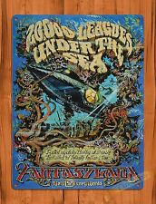 "TIN-UPS Tin Sign ""20,000 Leagues Under The Sea"" Walt Disney Ride Art Poster"