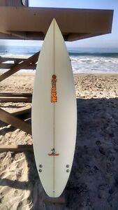 "Warner Surfboards WB001-US002: 5'10"" Short Board Hand Shaped In Australia"